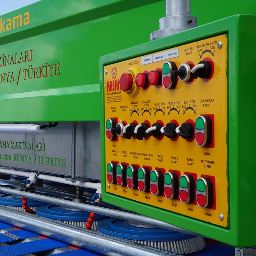 10 Fırçalı Sıyırıcılı Ahsan Halı Yıkama Makinası